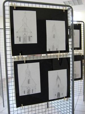 Exposition je dessine ma commune ecole de savign sur for Je dessine ma maison